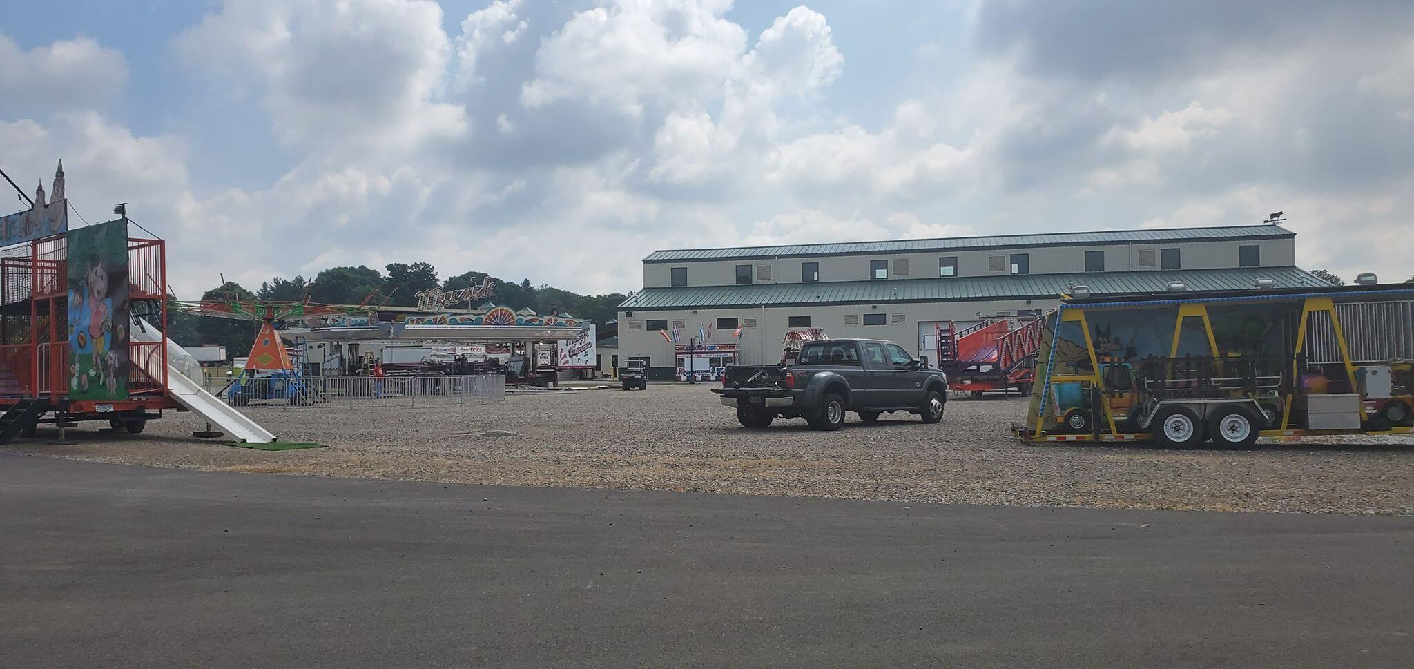 View of the Midway at the Pickaway County Fair