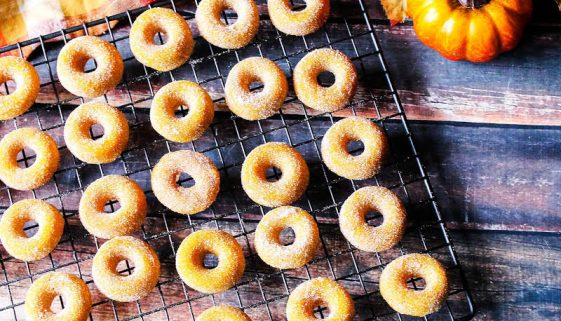 Pumpkin Mini Donuts