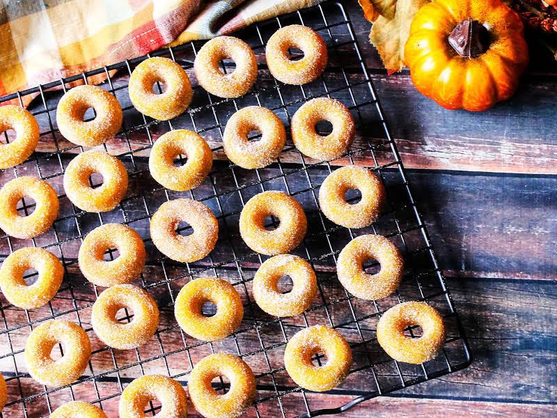 Pumpkin Mini Donuts