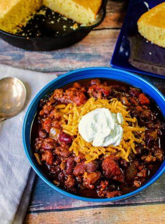 Crock pot pumpkin and turkey chili