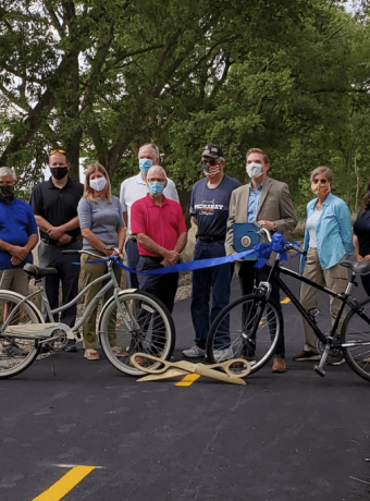 Pickaway Trail ribbon cutting by Chamber of Commerce