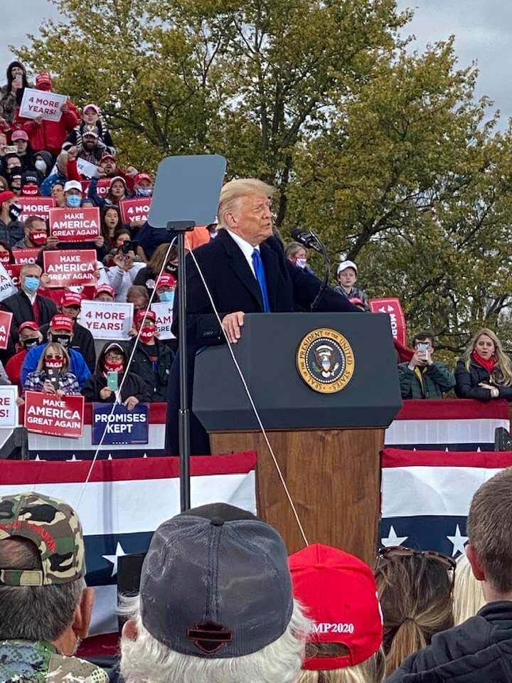 President Trump picture from Circleville, Ohio rally submitted by Ike Wampler