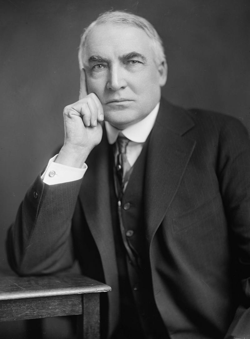 Warren G Harding President visited Pickaway County Photo by Harris & Ewing