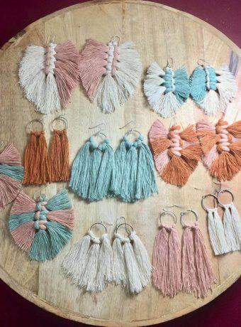 Macrame Earrings from Knot Just Hemp