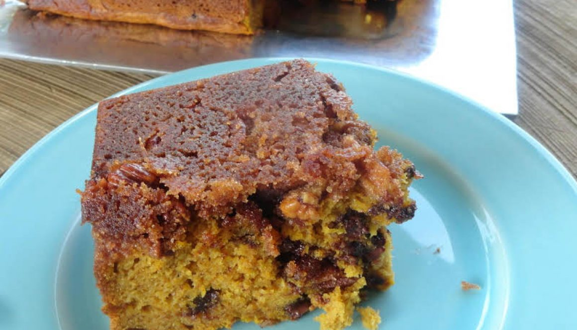 Pecan crusted pumpkin loaf
