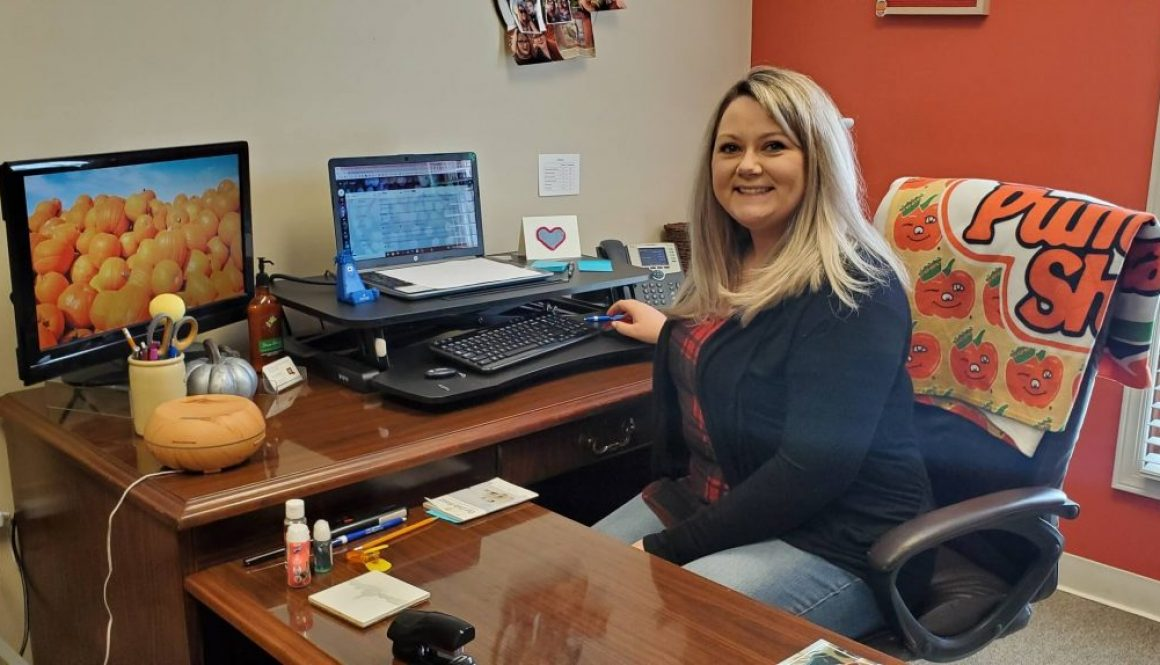 Jenny Rhoad at the Pickaway County Visitors Bureau and Welcome Center