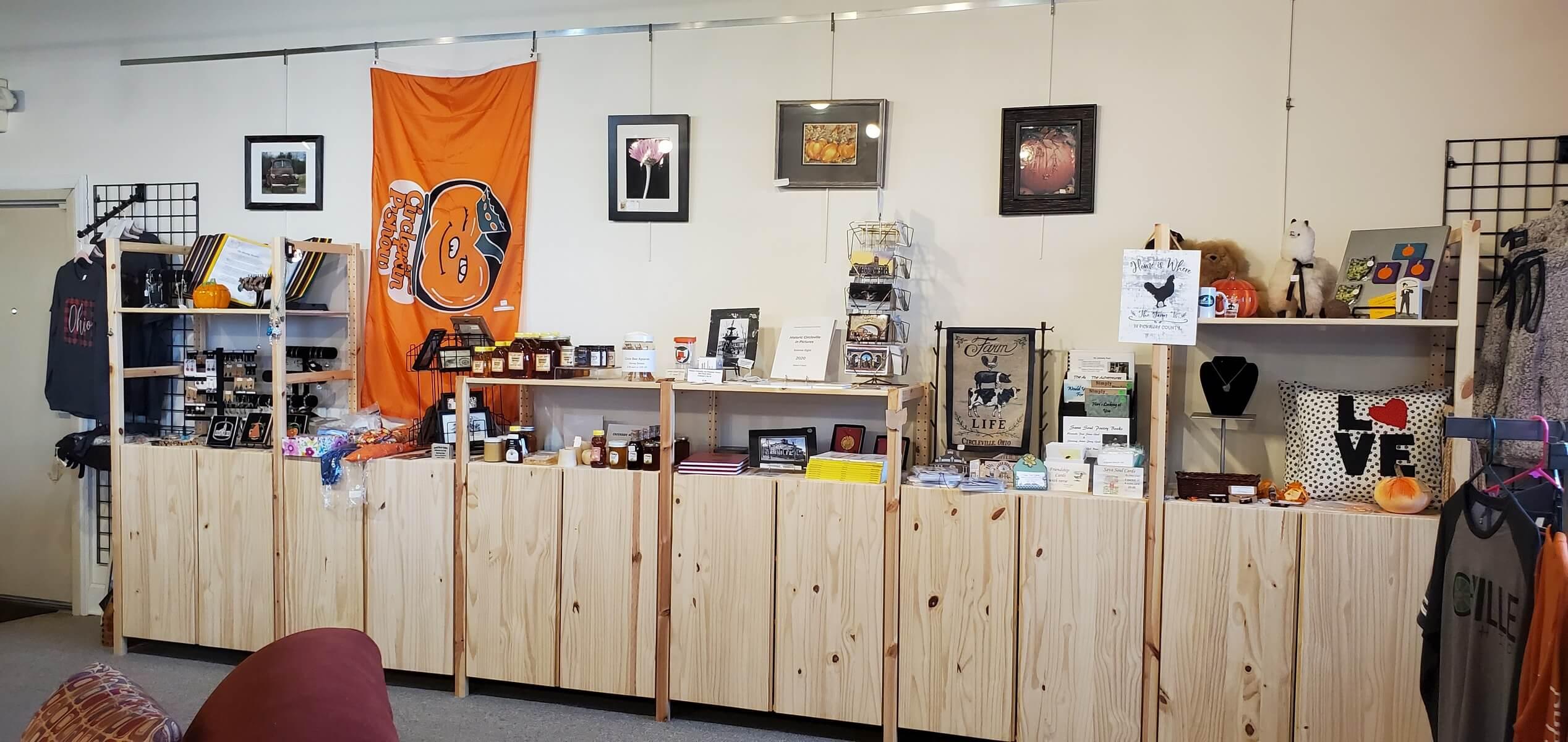 Small shop inside Pickaway County Visitors Bureau