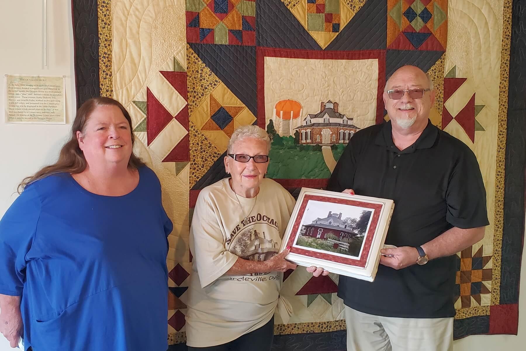 Octagon Scrapbook presented to Roundtown Conservancy